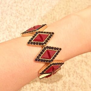 J. Crew Diamond Shaped Resin Stretch Bracelet